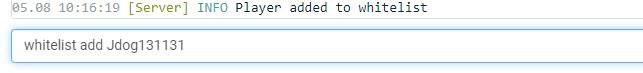 add player to whitelist