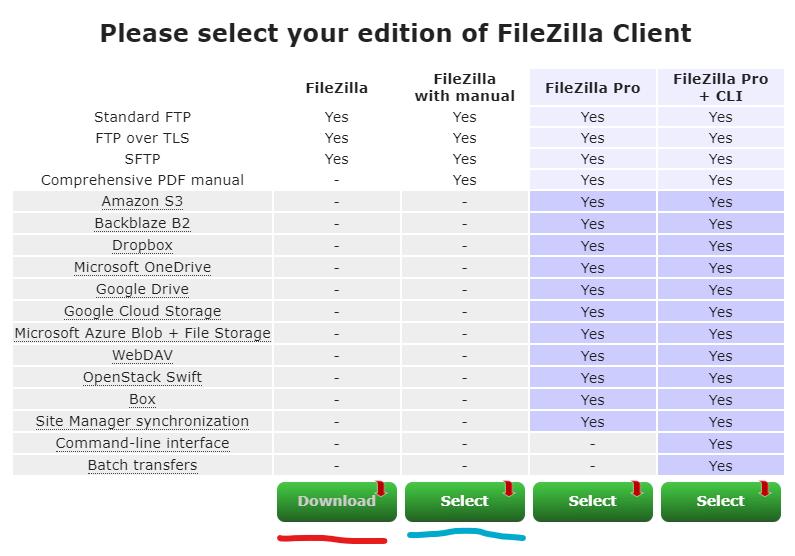 download filezilla