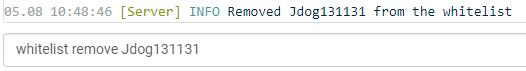 remove from whitelist java