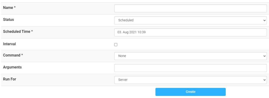 scheduled task in multicraft