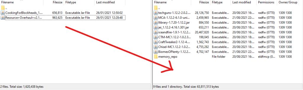 uploading files with filezilla