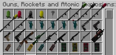 guns rockets and atomic explosions