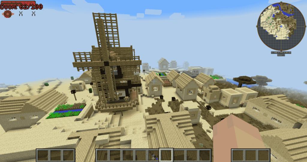 CrazyCraft 4 modpack villages